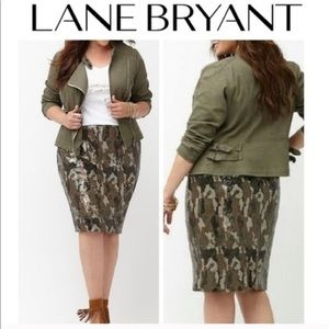 Lane Bryant // Camo Sequin Pencil Skirt
